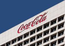 Sièges sociaux du monde de coca-cola images libres de droits