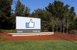 Sièges sociaux du monde de Facebook Photos stock