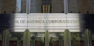 Sièges sociaux du monde de la Banque d'Amérique Images stock
