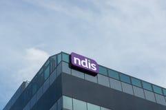 Sièges sociaux nationaux d'agence d'assurance invalidité dans Geelong, Australie image libre de droits