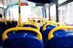 Sièges vides d'autobus Image stock