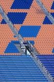 Sièges vides de stade Photographie stock libre de droits