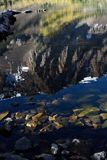 Siërra CREST-bezinningen in Parker Lake, het Nationale Bos van Inyo, Siërra Nevada Range, Californië Royalty-vrije Stock Afbeelding
