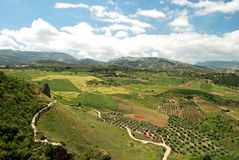 Siërra DEGrazalema bergen, Ronda. royalty-vrije stock foto