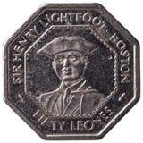 50 siërra Leonean-leones muntstuk, 1996, obvers Royalty-vrije Stock Afbeeldingen