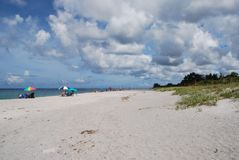 Siësta Zeer belangrijk Strand in Sarasota Florida Royalty-vrije Stock Afbeeldingen
