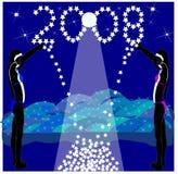 sięgnij 2008 gwiazd ilustracja wektor