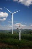 Siła wiatru krzyż i stacja Obraz Stock