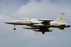 Siły powietrzne hiszpański wojownik F-5 Fotografia Stock