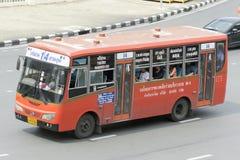 Si严路公共汽车汽车的14 Lumpini公园 库存照片