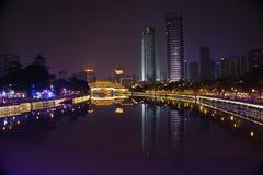 Si川石,城Du City在中国 一个美丽的城市,组合 库存照片