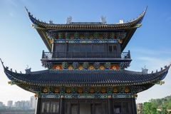 Si川石,城Du City在中国 一个美丽的城市,组合 库存图片
