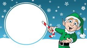 Si προτύπων διαφήμισης σχεδίου νεραιδών santas κινούμενων σχεδίων πώλησης Χριστουγέννων στοκ φωτογραφίες με δικαίωμα ελεύθερης χρήσης