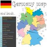 χάρτης εδαφών της Γερμανία&si Στοκ εικόνα με δικαίωμα ελεύθερης χρήσης