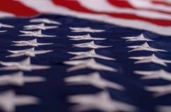 Κυματίζοντας αμερικανική σημαία στοκ φωτογραφία
