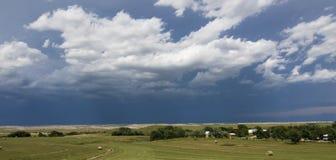 si apanna il Dakota sopra la tempesta del sud rurale Fotografie Stock Libere da Diritti