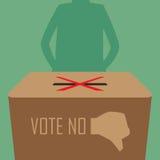 Si astiene il voto. Fotografia Stock
