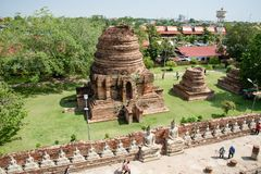 Si Ayutthaya, Tailandia di Phra Nakhon - 8 aprile 2018: Il mausoleo storico rimane in si Ayutthaya di Phra Nakhon, al chaimongkol Immagini Stock