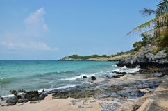 Si Chang Island, Beach and tropical sea with sky Stock Photos