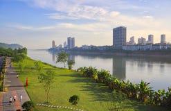 Si Chuan, Cheng Du City en China Una ciudad hermosa, combinación fotografía de archivo