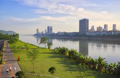 SI Chuan, Cheng Du City en Chine Une belle ville, combinaison photographie stock