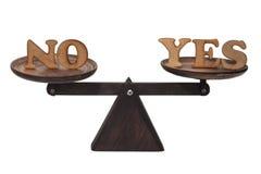 Si dijo sí o no imágenes de archivo libres de regalías