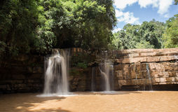 Si Dit瀑布, Phetchabun,泰国 库存例证