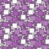 Si för geometrisk design för abstrakt begrepp för mosaik för för rosa färger, vit och svart fyrkant Arkivbilder