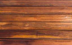 Si imbarca sullo sfondo naturale di marrone ricco di noci del tono, le linee orizzontali di legno modello di struttura Fotografia Stock Libera da Diritti