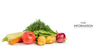 Si inverdisce il modello delle patate del pomodoro dello zucchini delle verdure Immagine Stock