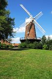 Si inverdisce il mulino a vento, Nottingham fotografia stock