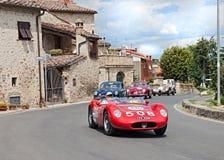 SI 1957 Maseratis 200 läuft in Mille Miglia 2014 Lizenzfreie Stockbilder