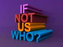 ¿Si no nosotros que? Foto de archivo libre de regalías