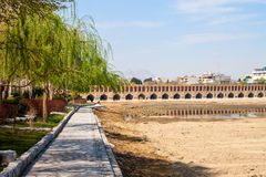 Si-o-se bridge in Esfahan Royalty Free Stock Photo