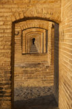 Si-o-se Pol. Bridge over dry river in Isfahan Royalty Free Stock Photography