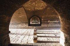 Si-o-Seh Pol., riep ook de Brug van 33 Bogen, Isphahan, Iran Royalty-vrije Stock Afbeeldingen
