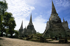 Si phra Wat sanphet στο ayutthaya Στοκ Εικόνα