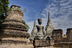 Si phra Wat sanphet στο ayutthaya Στοκ εικόνα με δικαίωμα ελεύθερης χρήσης