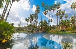 Si rannuvola il lago echo Park a Los Angeles fotografie stock libere da diritti