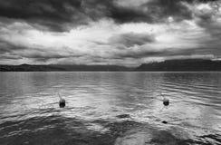 Si rannuvola il lago Lemano, Svizzera, Europa Immagine Stock