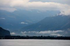 Si rannuvola il lago Lemano in Svizzera Europa Fotografie Stock
