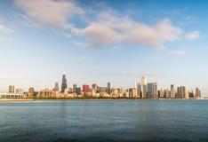 Si rannuvola la mattina Chicago in città Fotografie Stock Libere da Diritti