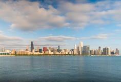 Si rannuvola la mattina Chicago in città Fotografie Stock
