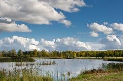 Si rannuvola un lago Fotografia Stock Libera da Diritti