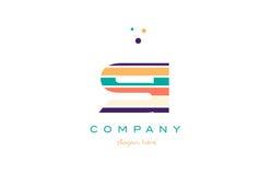 Si s i line stripes pastel color alphabet letter logo icon templ Royalty Free Stock Image