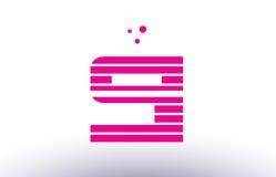 Si s i pink purple line stripe alphabet letter logo vector templ Stock Photo