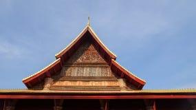 Si Saket寺庙屋顶细节  免版税图库摄影