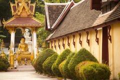 Si Saket Temple i Vientiane, Laos. Arkivfoto