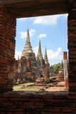 Si SAN Phet Ayutthaya Ταϊλάνδη Phra Wat Στοκ Φωτογραφία