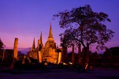 Si San Phet, Ayutthaya, Thailand van Phra van Wat Stock Afbeeldingen